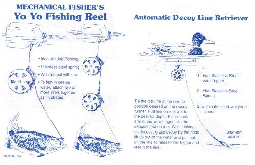 2 mechanical fisher 39 s yo yo fishing reels package of 2 for Fishing yo yo