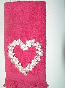 Amazon.com - Valentine flower heart bath hand fingertip towel applique