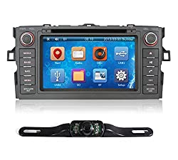 See Pumpkin 7 Inch For Toyota Auris 2007-2011 In Dash HD Touch Screen Car DVD Player Bluetooth/USB/SD/GPS Radio Stereo Navigation System with free reverse backup rear view reversing camera as gift Details