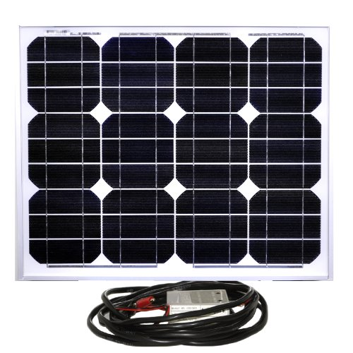 Instapark® 30W Mono-crystalline Solar Panel With a 12V solar charge controller