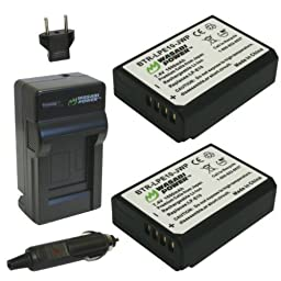 Wasabi Power Battery (2-Pack) and Charger for Canon LP-E10, LC-E10 and Canon EOS 1100D, EOS Rebel T3, EOS Rebel T5, EOS Kiss X50