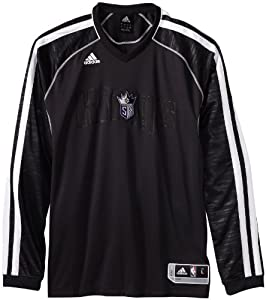 NBA Sacramento Kings On-Court Long Sleeve Shooter, Large, Black by adidas