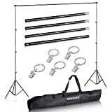 Neewer Photo Video Photography Studio Backdrop Support System with Background Holder Kit and Backdrop Holders