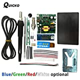 Soldering QUICKO STC T12 LED Digital Soldering Station DIY kits ABS plastic Shell new controller use for HAKKO T12 Handle vibration switch - (Color: White LED ABS Case) (Color: White LED ABS Case)