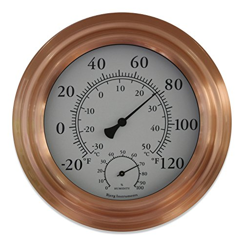 8 copper finish decorative indoor outdoor thermometer and hygrometer new ebay. Black Bedroom Furniture Sets. Home Design Ideas