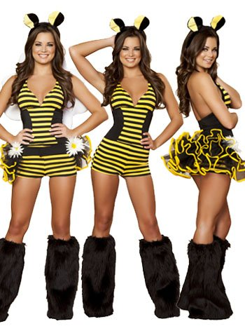 Bumble Bee Babe Costume - SMALL/MEDIUM