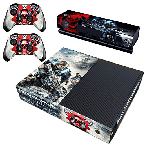 Vanknight Vinyl Decal Skin Stickers Cover for Xbox One Console Kinect 2 Controllers (Xbox One Console Gears Of War compare prices)