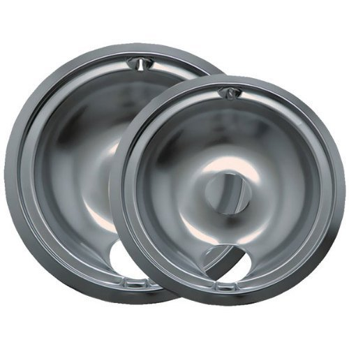 """Style B"" 2 Pk 6 In and 8 in Chrome Drip Pans"