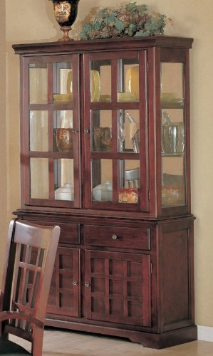 Cheap Coaster Newhouse Buffet and Hutch China Cabinet in Cherry Finish (B002X3HOTC)