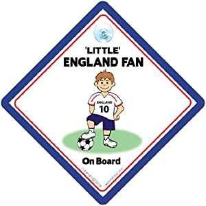 Little England Fan On Board Car Sign Supporters Sign For England Football Baby On Board Sign Style Free Uk Postage England Football by iwantthatsign.com
