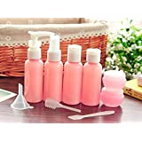 LUOYIMAN® Travel Bottles Small bottles for makeup Cosmetic Toiletries Liquid Containers Leak Proof Portable Travel Plastic bottles(Pink)
