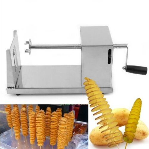 ECOSS Manual Stainless Steel Potato Chips Slicer Spiral Twister Vegetable Cutter (Manual Potato Slicer compare prices)