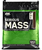 Optimum Nutrition Serious Mass Weight Gainer Protein Powder, Chocolate, 192 Ounce