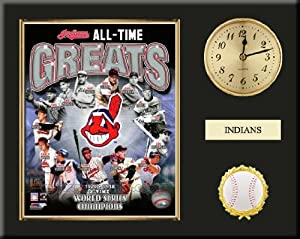 Cleveland Indians All Time Greats Team Composite Photo Inserted In A Gold Slide In... by Art and More, Davenport, IA
