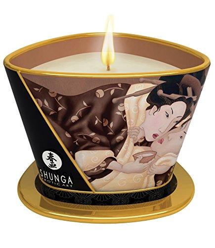 Massaggio eccitante,con  cioccolato