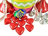 "7"" ""Clucking"" Cadbury Bunny Easter Basket w/ Cream Egg / Bucket w/ Hershey Kisses"