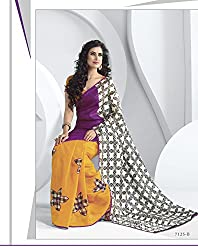 Shopeezo Daily Wear Multicolor Colored Printed Saree/Sari