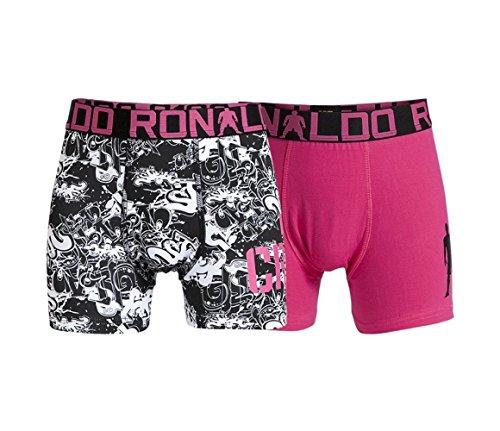 CR7 Cristiano Ronaldo, Boxer elasticizzati 2 pz., 95% cotone, Multicolore (Mehrfarbig), 7-9 anni