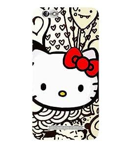 Evaluze kitty Printed Back Cover for LENOVO A 2020