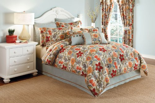 Croscill Home Mardi Gras Queen Comforter Set, Multi-Color front-905328