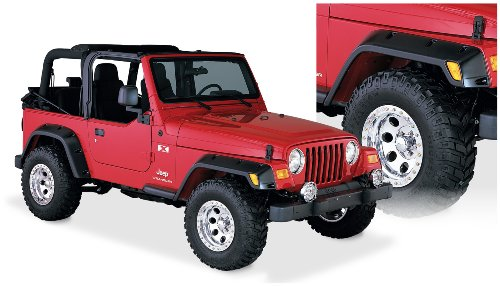 6 Pieces Rugged Ridge 11633.10 6 Tire Coverage Durable Black ABS Plastic Stainless Hardware All-Terrain Fender Flare Kit