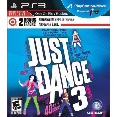 Just Dance 3 with EXCLUSIVE BONUS TRACKS by Rihanna and B.o.B (PlayStation Move Required) - 1