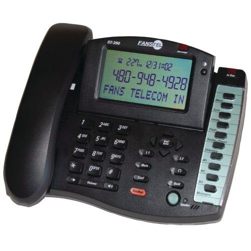 Fanstel 2-Line Business Professional Amplified Speakerphone (ST250)
