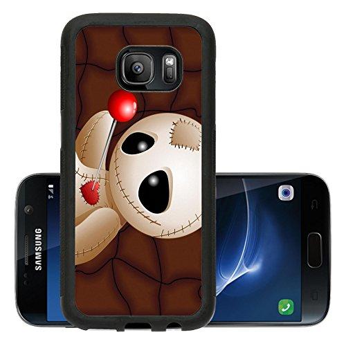 Liili Premium Samsung Galaxy S7 Aluminum Backplate Bumper Snap Case ID: 23107052 Voodoo Doll Cartoon in Love x GRiver