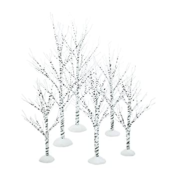 #!Cheap Department 56 Village Winter Birch Set of 6, Wrapped Wire