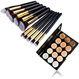 E2shop 12PCS Makeup Cosmetic Blush Brush Eyeliner Eye Shadow Brow Lip Brush