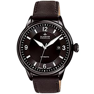 Dugena 7000302 - Reloj de pulsera hombre, piel, color negro