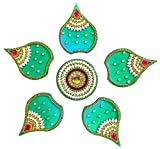 Handicraft Designer Rangoli (12 inch diameter, Acrylic, 6 piece set)