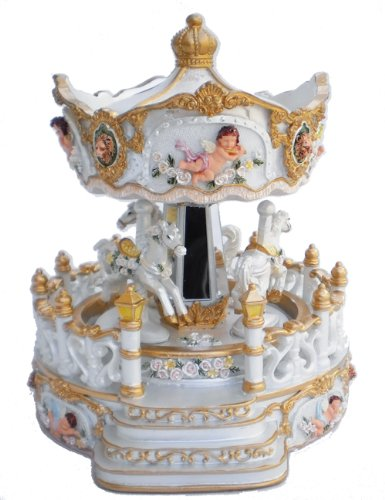 MusicBox Kingdom 14236 Carousel with Porch Music Box Playing