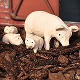 Miniature Fairy Garden Piggy and Piglets, Set of 4