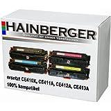 4 Hainberger XXL Toner für HP Laserjet Pro Color CE410X CE411A CE412A CE413A 305A