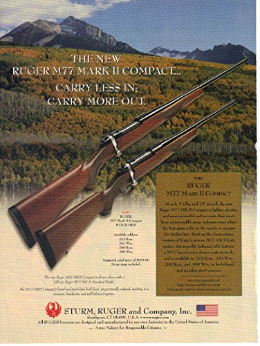 Print ad: 2002 Ruger Model M77 Mark II Compact Rifle,
