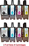 2 Sets inks LC900 Brother Compatible Printer Ink Cartridges for Brother DCP-110C, DCP-115C, DCP-117C, DCP-120C, DCP-310CN, DCP-320CN, FAX 310, FAX 1835C, FAX 1840C, FAX 1940CN, FAX 2440C, MFC-5840CN, MFC-620CN, MFC-210C, MFC-640CW, MFC-215C, MFC-3100, MF