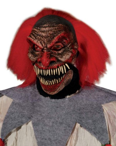 Dark Humor Evil Clown Horror Latex Adult Halloween Costume Mask