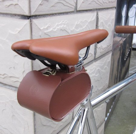 Handmade Leather PU England Vintage Bike Seat Saddle Tail Tools Bag, to match BROOKS Cushion Size 13*10.5*7cm 0