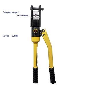 Industrial Hydraulic Crimper Tool Pressure 16Tons Lug Crimping Tool Kit Range16-300mm2 Hydraulic Crimping Tool
