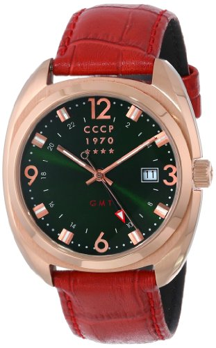 CCCP Men's CP-7016-03 Aviator YAK-15 Analog Display Swiss Quartz Brown Watch