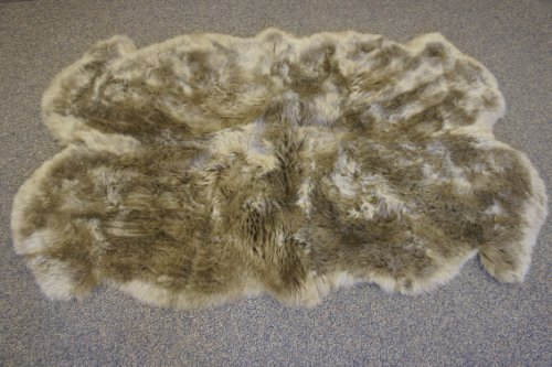 Genuine Authentic Sheepskin Four Pelt Taupe
