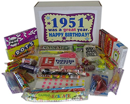 50s Retro Candy Decade 65th Birthday Gift Box Jr