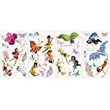 York Wallcoverings RMK1493SCS RoomMates Disney Fairies Peel & Stick Wall Decals,