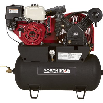 - Northstar Portable Gas-Powered Air Compressor - Honda Gx390 Ohv Engine, 30-Gallon Horizontal Tank, 24.4 Cfm @ 90 Psi