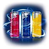 【日本未発売】Red Bull レッドブル Editions, アメリカ版(250ml x 12缶)シルバー・レッド・ブルー Red Bull Editions, US Formula (12 x 250-ml cans) 4 Each of Cranberry, Lime & Blueberry