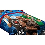 3pc WWE Wrestling Twin Bed Comforter Set The Rock Wrestle Mania Bedding