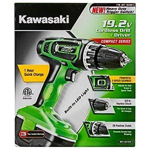 Kawasaki® Heavy Duty Cordless Drill Set 19.2V 2 Speed Compact - 841845F