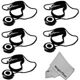 5 Pieces Lens Cap Keeper Holder + Premium MagicFiber Microfiber Cleaning Cloth