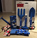 Mickey Mouse Kids Gardening Tools Bundle - 3 Piece Metal Tool Set, Gloves & Metal Watering Can